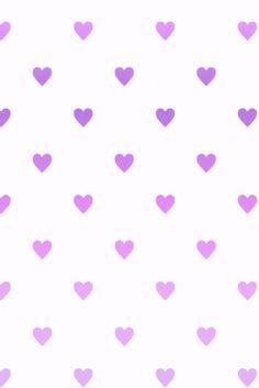 Purple gradient love heart wallpaper