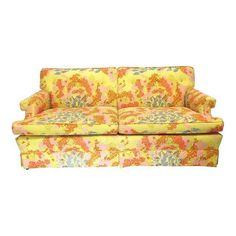 Dorothy Draper Hollywood Regency Floral Sofa