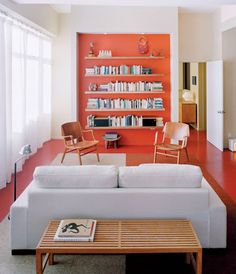 If your style isn't bright paint on every wall, try using color on accent walls.  This recessed bookshelf is great, but you can make it on either a small or large open wall.  Try to pick the accent color by using something in the room that you love the color of.  Then work with that color to bring some depth to the room.  www.allaboutpaint417.com