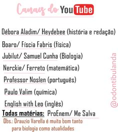 Canais de Youtube para estudar