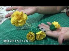 Flor de feltro para iniciantes -DIY - Felt flowers - YouTube