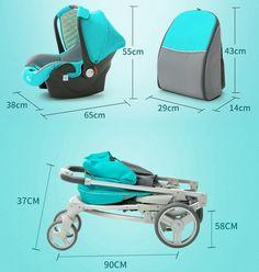 Luxury Baby Stroller 3 IN 1 | www.babyliscious.com Baby Strollers, Luxury, Children, Bathroom Ideas, Stuff To Buy, Baby Prams, Young Children, Boys, Strollers