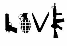 Love Weapons Decal:  Military Decals Gun Lover by ArtisticAttires