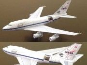 This aircraft paper model is a Boeing DLR Sofia NASA Airplane, created by Bruno VanHecke. There are and two scale versions. You can dow Paper Model Car, Paper Airplane Models, Model Airplanes, Paper Models, Paper Planes, 3d Paper Crafts, Paper Toys, Paper Art, Papercraft Download