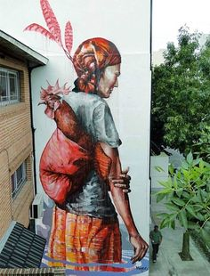 A selection of street art creations by Australian artist Fintan Magee, based in Brisbane, who plunges us into a world both dreamlike and unconventional, yet ver