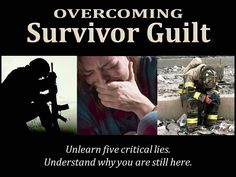 Survivor guilt--the deeply tormenting feeling of guilt that comes from surviving a tragedy or traumatic situation in which other people were killed--is a vicious cocktail of deception and condemnation that Satan has cooked up to keep souls brutally beat down and stuck in the past. In this post, we expose five false beliefs which fuel this tormented condition and learn how to replace those lies with God's truth. Survivor Guilt, Im A Survivor, Ptsd Military, Military Life, Guilt Quotes, Anxiety Disorder Treatment, Ptsd Awareness, Traumatic Brain Injury, Stress Disorders