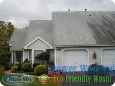 Eco Friendly Power Washing with Blue Sky Pressure Washing Vinyl Soffit, Vinyl Siding, Pressure Washing, Restoration, Eco Friendly, Shed, Outdoor Structures, Outdoor Decor, Blue