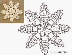 Christmas ornaments with beautiful graphics, Come and see! Crochet Snowflake Pattern, Crochet Stars, Crochet Snowflakes, Crochet Flower Patterns, Thread Crochet, Crochet Flowers, Crochet Diagram, Crochet Motif, Crochet Doilies