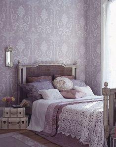 Lovely lavender bedroom...