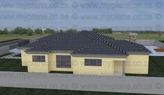 3 Bedroom House Plan - My Building Plans My Building, Building Plans, Single Storey House Plans, My House Plans, Bedroom House Plans, Open Plan Living, Home Renovation, Living Area, Mlb
