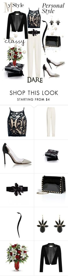 """""""My Best Style"""" by belinda54-1 ❤ liked on Polyvore featuring Sans Souci, Joseph, Gianvito Rossi, Valentino, Marni and Yves Saint Laurent"""