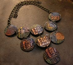 Polymer clay necklace by Etsy seller adrianaallenllc.