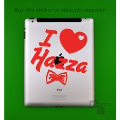 iPad - I Heart Hazza - One Direction - (Laptop Decal 1D Wall Sticker... ($8.99) ❤ liked on Polyvore