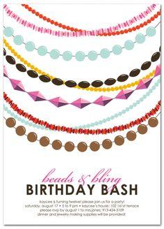 Jewelry Beading Birthday Party Invitations Merry Heart 2