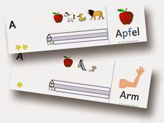Anlauträtsel für das Lesen und Schreiben mit der Anlauttabelle     download Montessori Materials, First Grade, Worksheets, Literacy, Playing Cards, Classroom, Teacher, Education, Learning