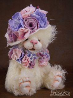 """""""Katherine"""" Mohair artist teddy bear from Bear Treasures by Melanie Jayne"""