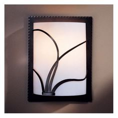 Hubbardton Forge 1 Light Wall Sconce Finish: Black, Shade Color: White Art, Bulb Type: 1 x 100W A19 Medium Base Incandescent