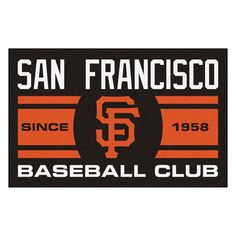 "MLB San Francisco Giants Baseball Club Starter Rug 19""x30"""