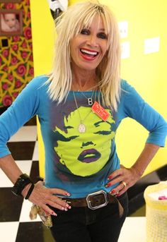 betsy johnson...I have this shirt in black...and you just see the facial features....a prized possession!