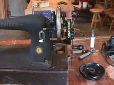converting Singer sewing machines from electric to treadle or hand crank