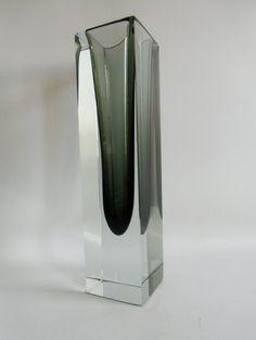 1 vase blockvase murano sommerso kristall glas kunstglas geschliffen lila glas pinterest. Black Bedroom Furniture Sets. Home Design Ideas
