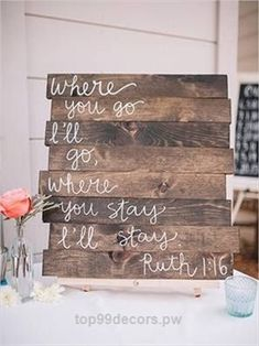 30 rustic wedding signs & ideas for weddings. [tps header] couples love adding fun rustic wedding signs to their wedding day decorations if you are looking for some inspiration or ideas on what t. Dream Wedding, Wedding Day, Perfect Wedding, Trendy Wedding, Pallet Wedding, Wedding Quotes, Wedding Rustic, Wedding Affordable, Funny Wedding Signs