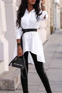 γυναικείο πουκάμισο MELINA WHITE   IVET.EU - σελίδα για γυναικεία,αντρικά,παιδικά ρούχα και αξεσουάρ Serum, Georgia, Poplin, Morocco, How To Make, Sweatshirt, Things To Sell, Fashion, Moda