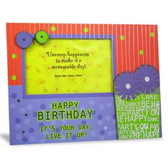 Stylish Birthday Photo Frame Happy Birthday It's Your Day Live It Up !... Shop Now : Height : 19 cm X Length : 25 cm X width : 1 cm. https://hallmarkcards.co.in/collections/shop-all/products/buy-happy-birthday-frames