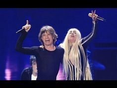 Lady Gaga takes the stage with Mick Jagger and the rest of the Rolling Stones for their concert at the Prudential Center on Saturday night (December 15) in Newark, NJ. I do not own this. For entertainment purposes only.