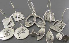 Handmade Silver Earrings by Beth Millner Jewelry.