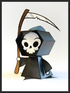 Halloween Paper Model - Lil Death Free Paper Toy Download