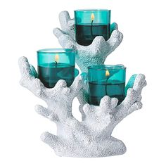 """YES!!!! """"4"""" OF THESE!! Tropical Coral Votive Holder"""