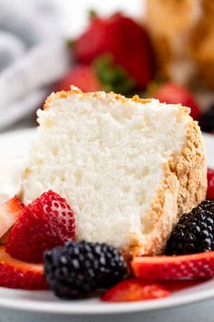 Angel food cake is light and airy and deliciously sweet. The perfect angel food cake recipe is also easier to make than you might think for the perfect sponge cake, every time.