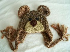 Brown Bear Hat - Baby Bear Hat - Baby Hats - Bear Hat- Halloween Costume - Cute and Soft Earflap - by JoJosBootique on Etsy, €20,23