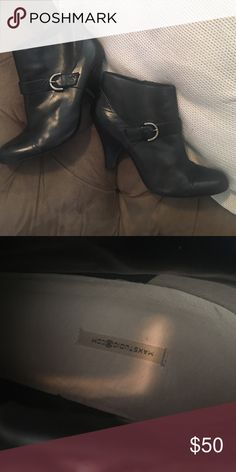Black ankle boots Black leather boots ... Max studio Max Studio Shoes Heeled Boots