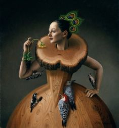 """""""The Ruff"""" - Oil painting by Steven Kenny: http://stevenkenny.com beinArt Surreal Art Collective: http://beinart.org"""