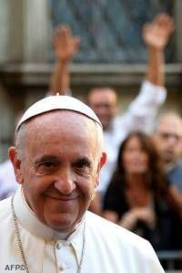 Pope Francis, a.man of the ordinary people and  He walks in the footprints of Saint Francis, an extraordinary man.