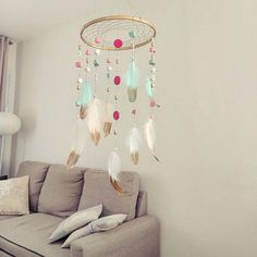 Dream catcher,baby room decor,girl room decor,dreamcatcher By MigaMia https://www.etsy.com/shop/Migamia/