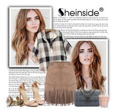 """Camel Tassel Skirt by Shein.com"" by gabbyramosbr ❤ liked on Polyvore"