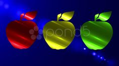 red, green, yellow apple - Stock Footage   by agusacosta