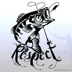 Largemouth bass fishing window sticker. Professional grade vinyl decal for trucks, cars, boats, coolers or any smooth surface indoors/outdoors.