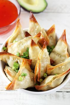 Baked Avocado Cream Cheese Wontons