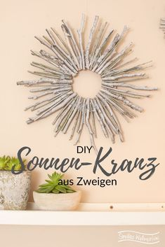 DIY wall decorations from branches – diy home crafts Crafts To Sell, Diy And Crafts, Crafts For Kids, Sell Diy, Kids Diy, Feng Shui, Decor Inspiration, Diy Wall Decor, Home Decor