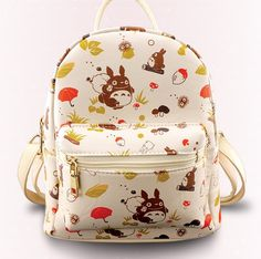 24.99$  Watch now - http://aligr9.shopchina.info/go.php?t=32753296492 - Anime My Neighbor Totoro Backpacks Shoulder Bag Cool Children PU Casual School Bag Bookbag For Teenage Girls 26*23*13cm  #buychinaproducts
