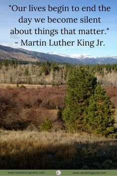 """""""Our lives begin to end the day we become silent about things that matter.""""   - Martin Luther King Jr.   #MDI"""