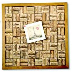 """Something practical to do with all those """"too important to throw away"""" corks. Cork Bulletin Board Kit"""