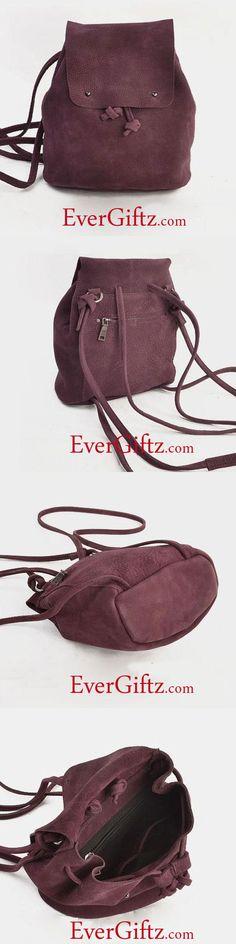 Handmade Leather Cute Womens Backpack Bag Purse Shoulder Bag Handbag
