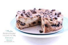 Flourless Peanut Butter Chocolate Chip Flax Banana Bread