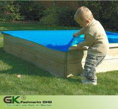 Sandkastenabdeckung 120 x 120 cm, aus PVC mit Gummizug