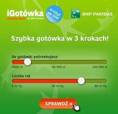 Szybka gotówka w 3 krokach online w BNP Paribas http://polskie.bankioferty.com/igotowka/